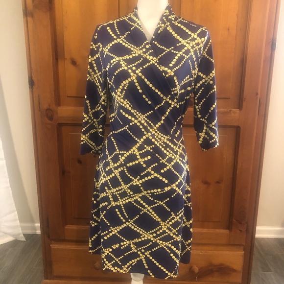J. McLaughlin Faux Wrap Dress Size Small